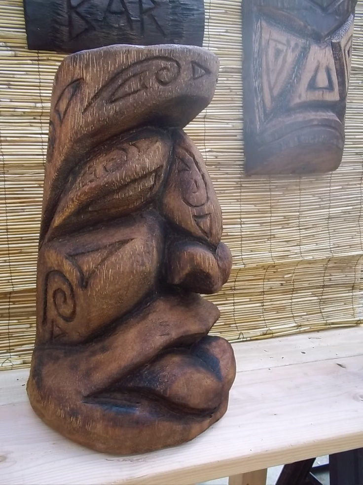 Best tikis images on pinterest carving carved wood
