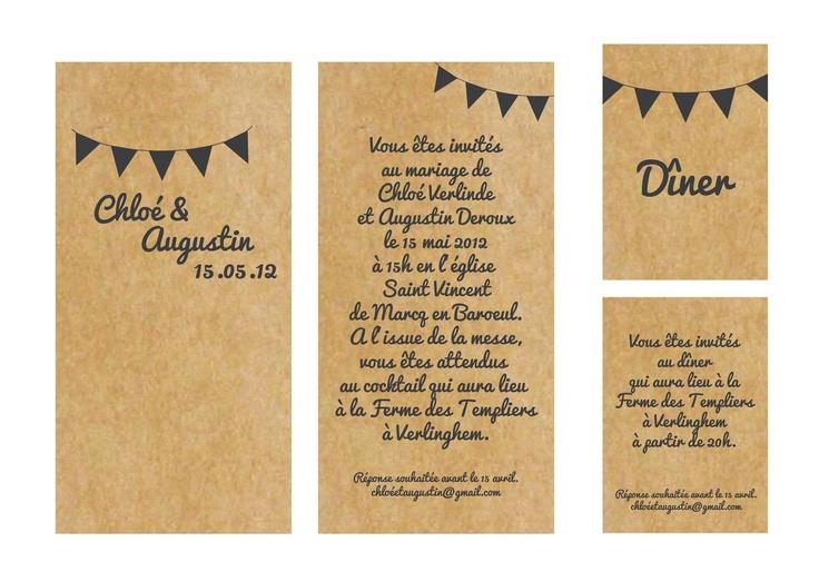 mon petit faire part l 39 am ricaine mariage wedding. Black Bedroom Furniture Sets. Home Design Ideas