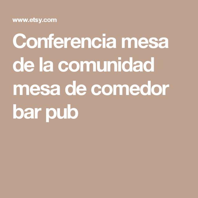 Conferencia mesa de la comunidad mesa de comedor bar pub