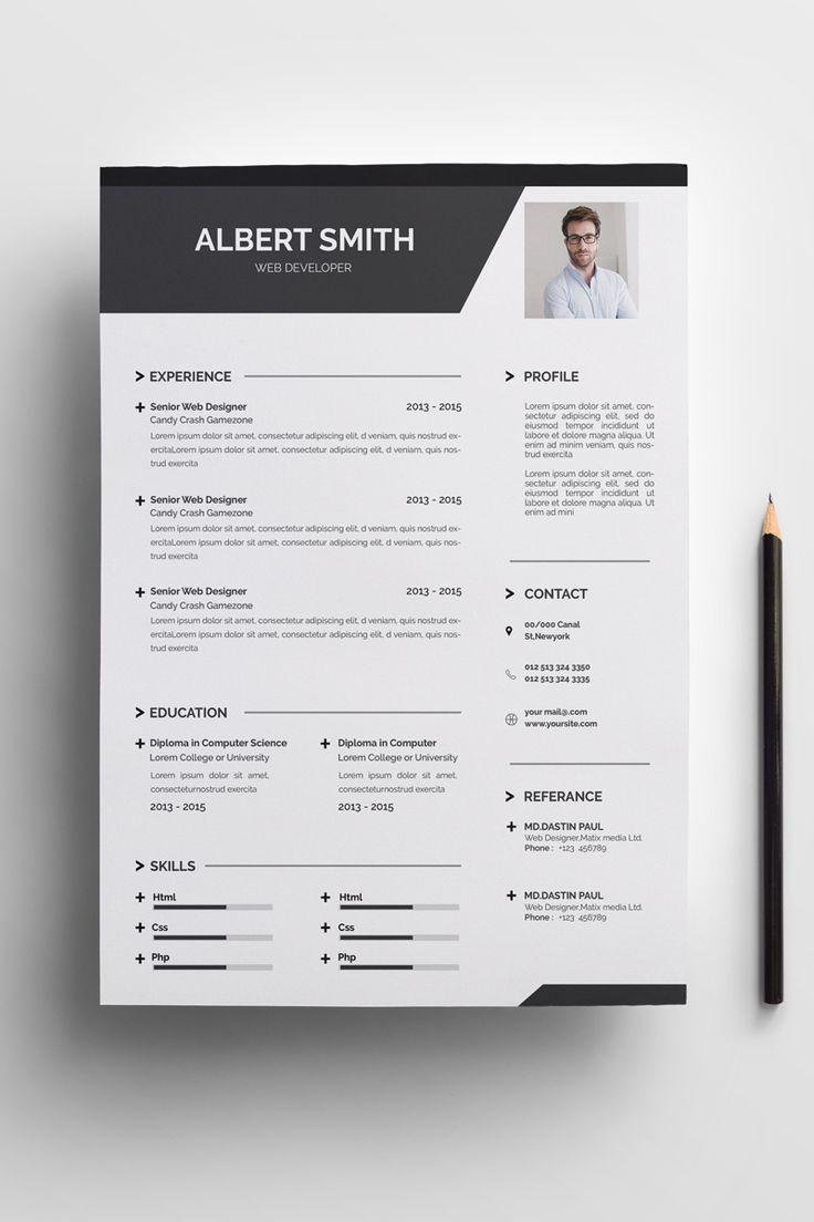 Black White Simple Resume Template Resume Resumeexamples Resumetemplates Curriculumvitae Resume Template Resume Design Template Creative Resume Templates