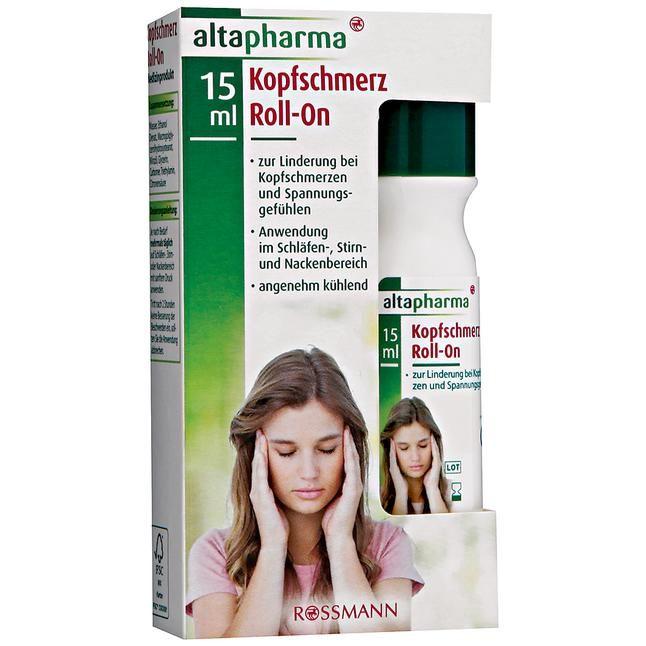 zur Linderung bei Kopfschmerzen & Spannungsgefühlen, Anwendung im Schläfen-, Stirn & Nackenbereich, angenehm kühlend<br>Medizinprodukt
