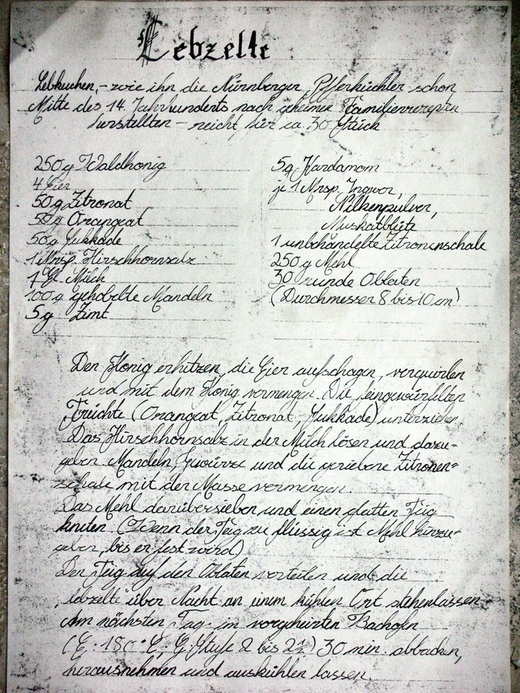 Old Lebkuchen Recipes with English translation...hundreds of years old!