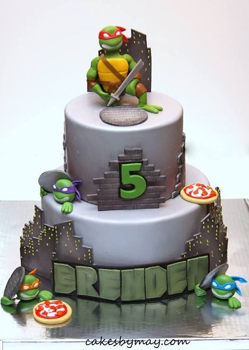 Ninja Turtles cake by Cakes by Maylene