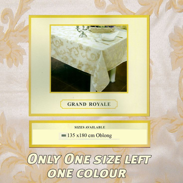 Shipment due today 4 seater 6 seater... what about the quality and price. What a saving  http://www.curtainsrus.com.au/products/4-seater-6-seater-8-seater-10-seater-grand-royal-tablecloth-clearance-table-linen-135cm-x-185cm-rectangle?utm_campaign=social_autopilot&utm_source=pin&utm_medium=pin