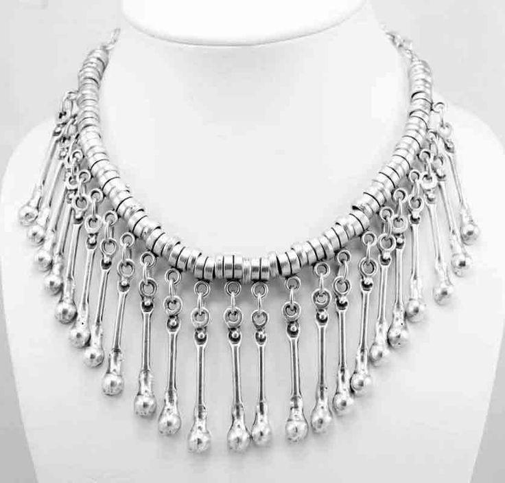 Necklace 1018. Silver zamak necklace Available at Wholesale Bazaar Australia.