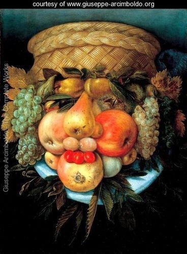 Vaso Reversibile (Fruits in a Basket Reversed) - Giuseppe Arcimboldo - www.giuseppe-arcimboldo.org