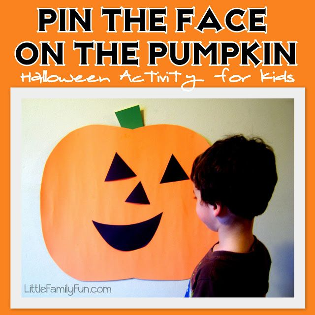 Pin the Face on the Pumpkin - Halloween Party