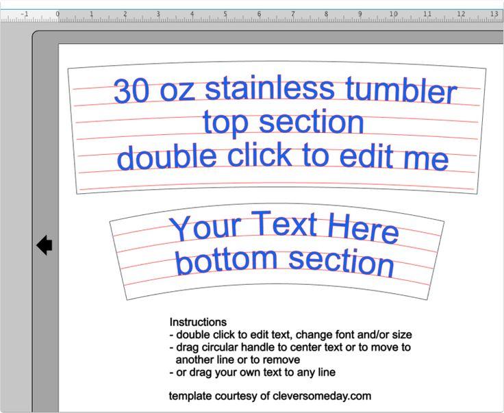 20 Oz Tumbler Wrap Template