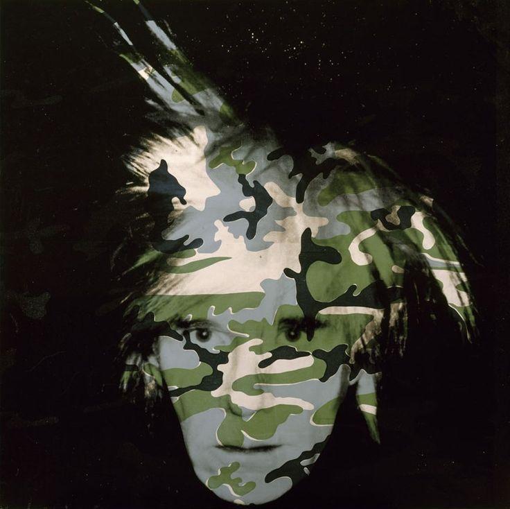 "Andy Warhol, ""Camouflage Self-Portrait"" (1986). Metropolitan Museum of Art, New York."