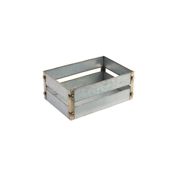 Large Rustic Metal Storage Bin ($17) ❤ liked on Polyvore featuring home, home decor, small item storage, metal storage bins, rustic home decor, rustic home accessories, rustic storage bins and metal home decor