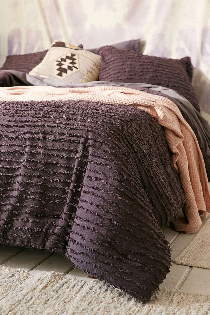 Eyelash Fringe Comforter  Bedroom  Urban outfitters apartment Bedroom decor Comforters