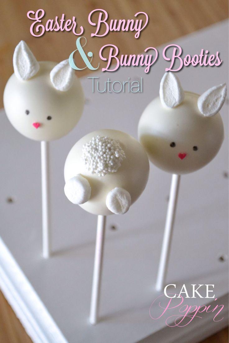 Easter bunny cake pop tutorial from Cake Poppin