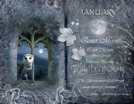 """Book of Shadows Moon:  """"January: Birch Moon,"""" by Angie Latham. It makes a lovely Moon page for a Book of Shadows."""