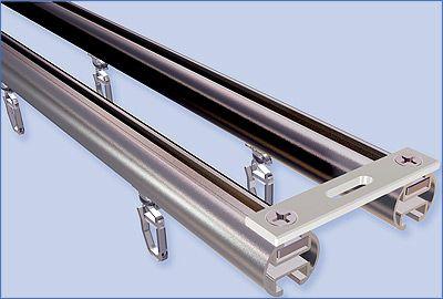Aluminum sliding rail and double rod ceiling bracket