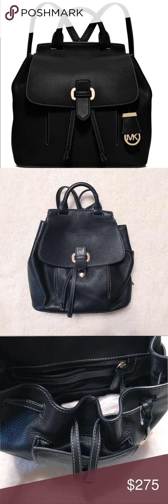 Michael Kors backpack The must have Romy Medium Backpack from MICHAEL Kors!!! Michael Kors comes elegantly crafted in luxe pebble leather with slender, adjustable straps. MICHAEL Michael Kors Bags Backpacks