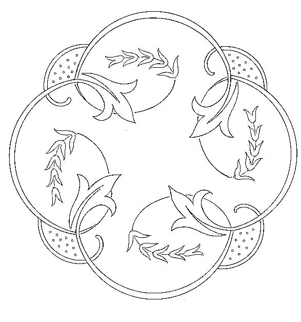 embroidery pattern - this would be nice worked in chain stitch and maybe the center of a quilted wallhanging