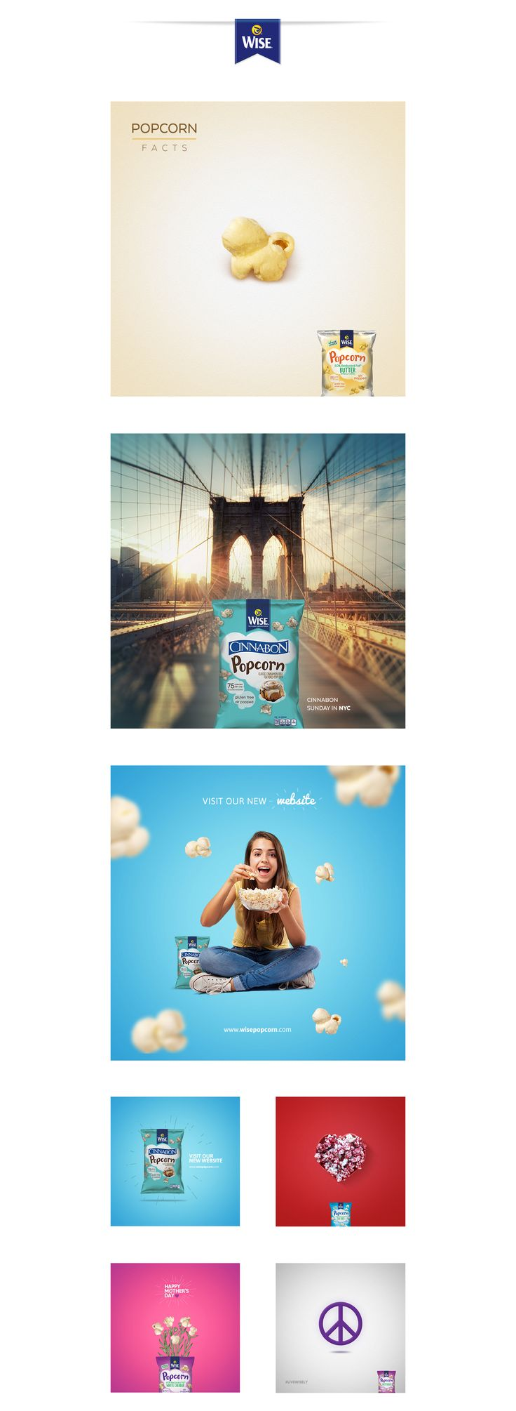 Wise Popcorn | Social Media on Behance