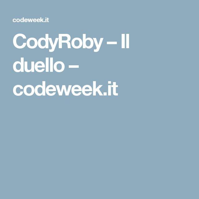 CodyRoby – Il duello – codeweek.it
