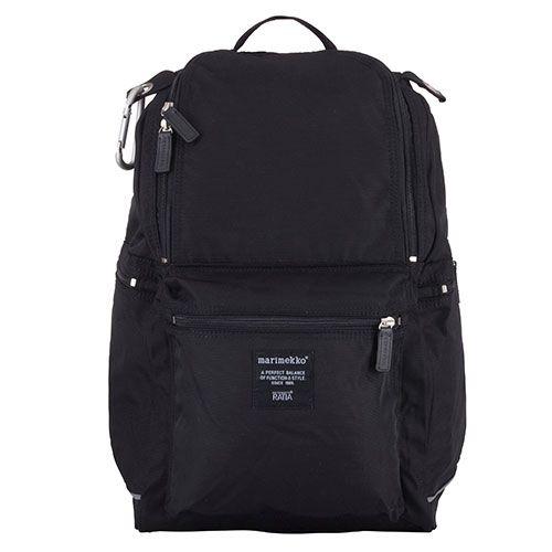 Your new best friend: A clean, comfortable classic. Marimekko Buddy Black Backpack - $159