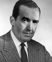 Edward R. Murrow (born Egbert Roscoe Murrow; April 25, 1908 – April 27, 1965) was an American broadcast journalist. He first came to prominence with a series of radio news broadcasts during World War II, which were followed by millions of listeners in the United States.Fellow journalists Eric Sevareid, Ed Bliss, Bill Downs, and Alexander Kendrick considered Murrow one of journalism's greatest figures, noting his honesty and integrity in delivering the news. A pioneer of television new…