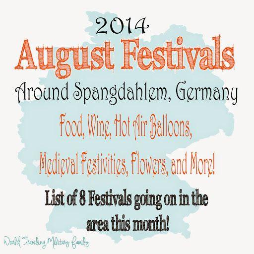 August Festivals Around Spangdahlem, Germany