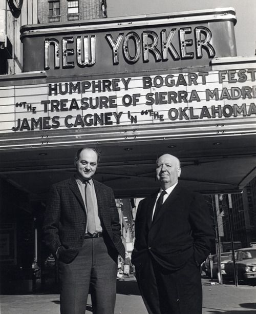 Andrew Sarris and Alfred Hitchcock, New York City, 1960s