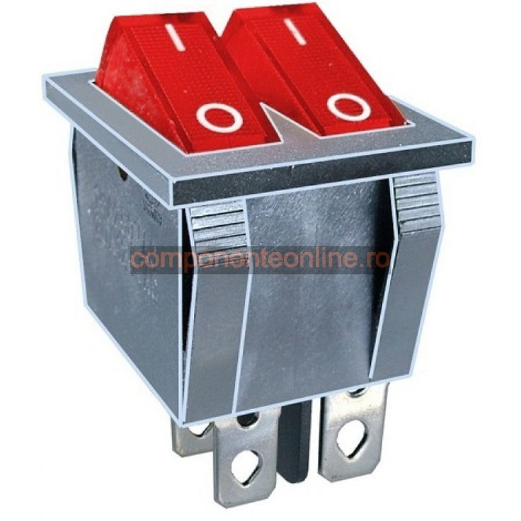 Intrerupator dublu, ON-OFF, 15A, 250V, 2 pozitii - 120581
