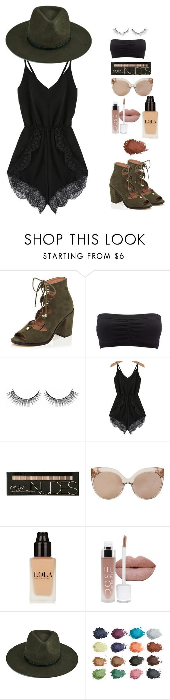 """""""cochella"""" by pandadonuttwin ❤ liked on Polyvore featuring River Island, Charlotte Russe and Linda Farrow:"""