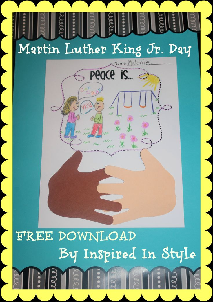Check Out This Great Martin Luther King Jr Day Activity With And A Free