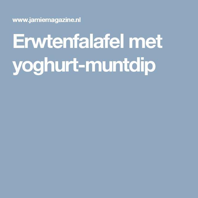 Erwtenfalafel met yoghurt-muntdip