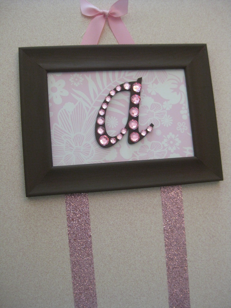 Pink Hair Bow Holder Baby Gift. $17.00, via Etsy.