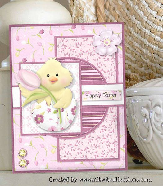 Cute baby Easter chick card just emerging to chirp out its wishes! FQB - Gratitude Collection from Nitwit Collections