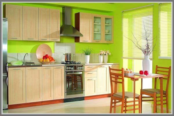 Lift up your spirit, use bright green for your home kitchen interior design. http://edupaint.com/interior/dapur/9484-yuk-cat-ulang-dapur-untuk-ciptakan-suasana-baru.html #HiyotoIdea #homedesign #homedecor #housedesign #housedecor #interiordesign #kitchen #diningroom