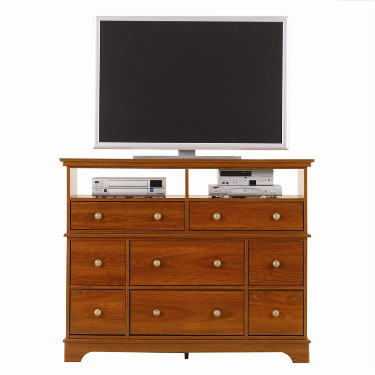 Leeward Media Cabinet with 8 Drawers by Lang - Lang Furniture - Chest - Media Chest