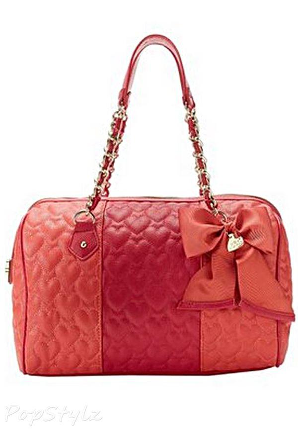 Betsey Johnson Be My Wonderful Satchel Handbag