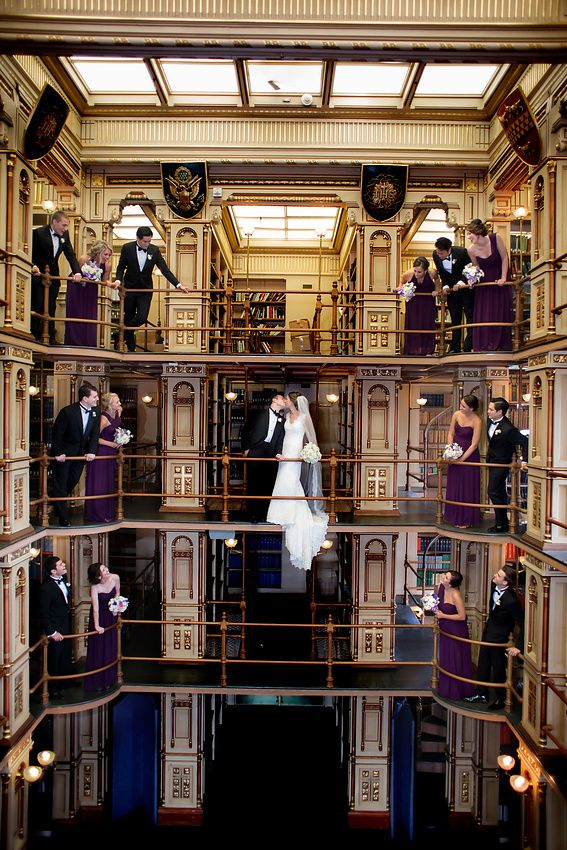 Wedding Party In Riggs Library On Georgetown University Campus Washington DC