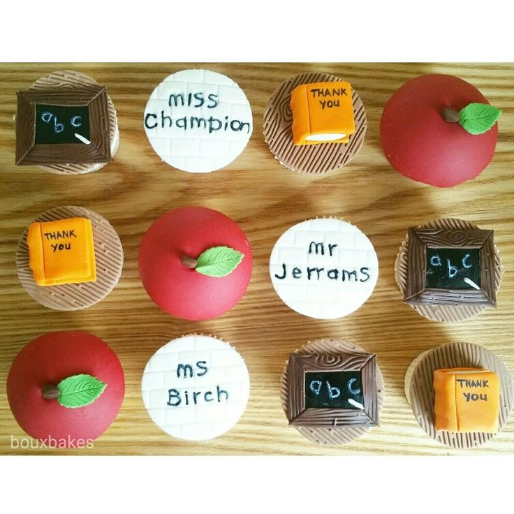 School Thank you cupcakes