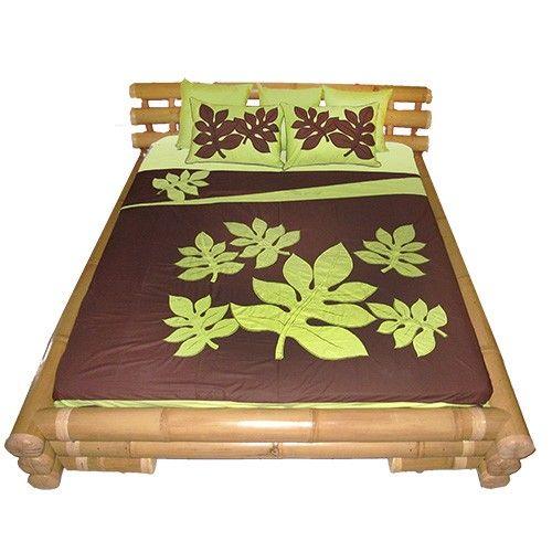 Tahiti ape api couvre lit tifaifai linge de maison - Linge de maison descamps ...