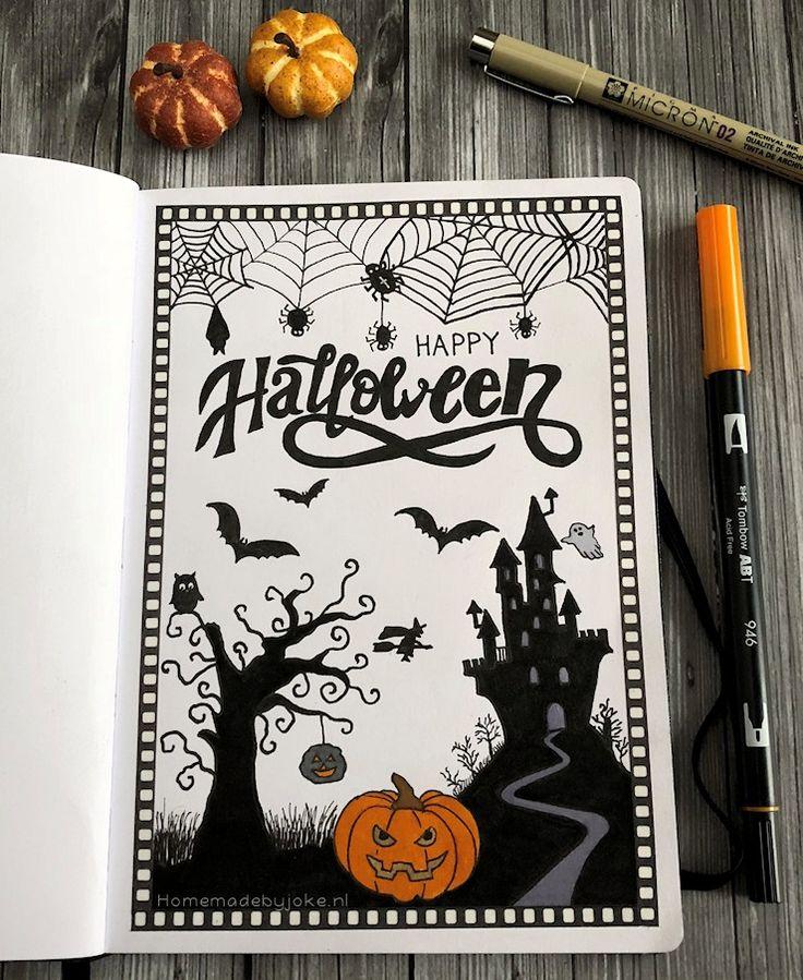 Bullet journal Halloween 2018 Idées de journal, Dessin