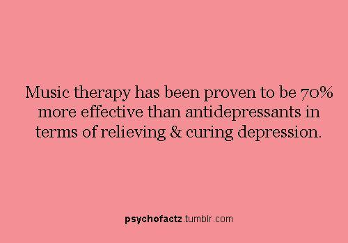 music therapy and depression Music can also be used for anxiety alleviation, with the added benefit being that music therapy can also be entertaining music has been used for many centuries as therapy for treatment of different ailments and for restoration of the fine balance between the body and the mind.