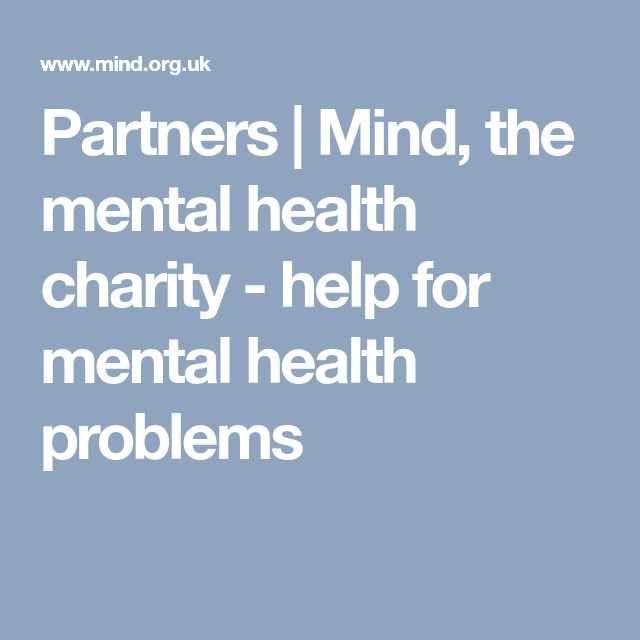 Partners | Mind, the mental health charity - help for mental health problems