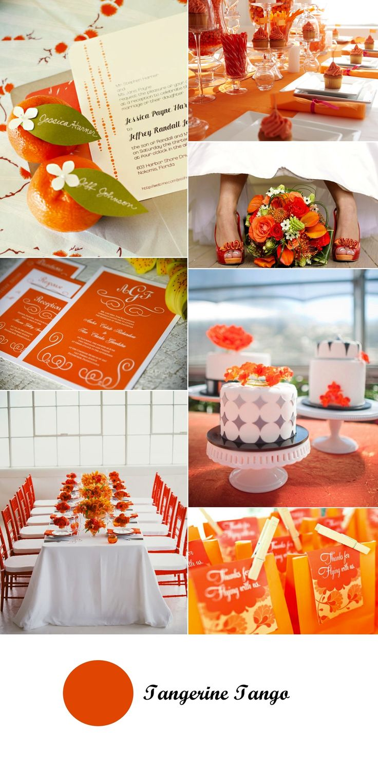 95 best images about Tangerine Wedding on Pinterest ... Tangerine Tango Wedding