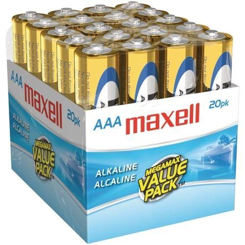 Maxell Alkaline Batteries (aaa; 20 Pk; Brick)
