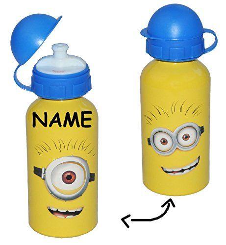 Alu Trinkflasche Minion / Minions - incl. Namen - aus Alu…