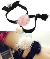 Smooth Mink & Pearl Elastic Bracelet