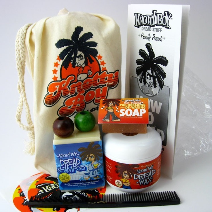 This Knotty Boy Dreadlock Starter Kit includes a whole bag of fun stuff for getting your locks off and running faster and easier than ever, including the expanded official Knotty Boy How to Dread Instruction Brochure and the FABULOUS Knotty Boy Bee Washed Pre-Dreading and De-Waxing Soap!Kit includes the following: * 1 Knotty Boy Dread Wax,