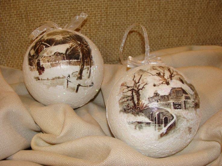 Bombki Bożonarodzeniowa własnoręcznie wykonana :) decoupage
