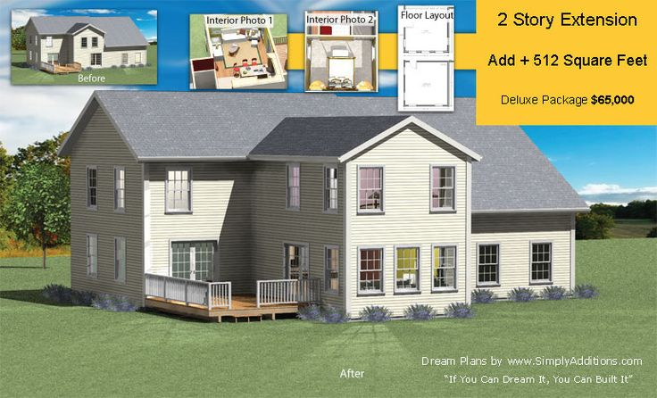 2 Story Extension Plans Adds 512 Square Feet Of Space For