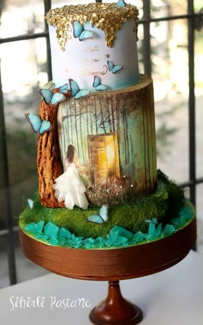 """Belive in your DREAMS…Cake – My new """"Painting technics on cake"""" Class (Istanbul-Turkey)"""