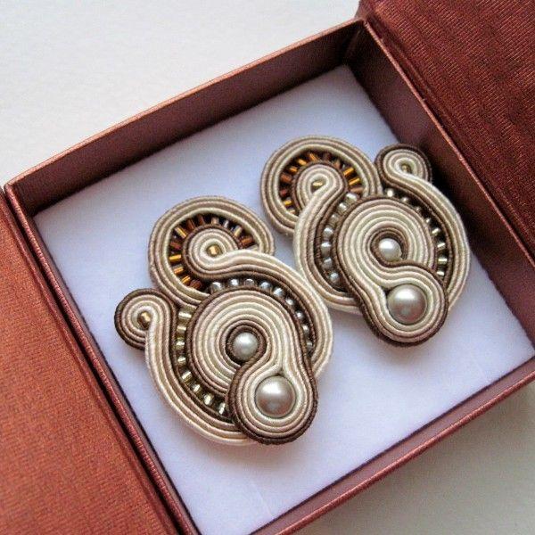 Brown earrings by Aurus